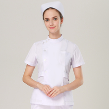 Европейский модный медицинский костюм для лаборатории, пальто для женщин, больничный скраб, униформы, тонкая посадка, дышащая медицинская форма, дизайн