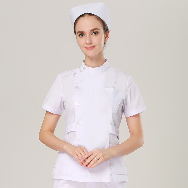 Europe mode costume médical blouse de laboratoire femmes hôpital gommage uniformes ensemble Slim Fit respirant médical uniforme conception