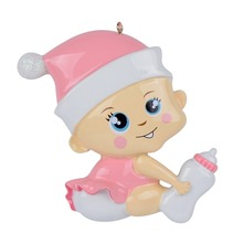 Cute Baby Girl Personalized Ornament