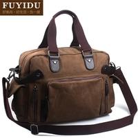 New 2014 Man Canvas Travelling Handbag Messenger Bag With Shoulder Belt High Quality Large Size Canvas