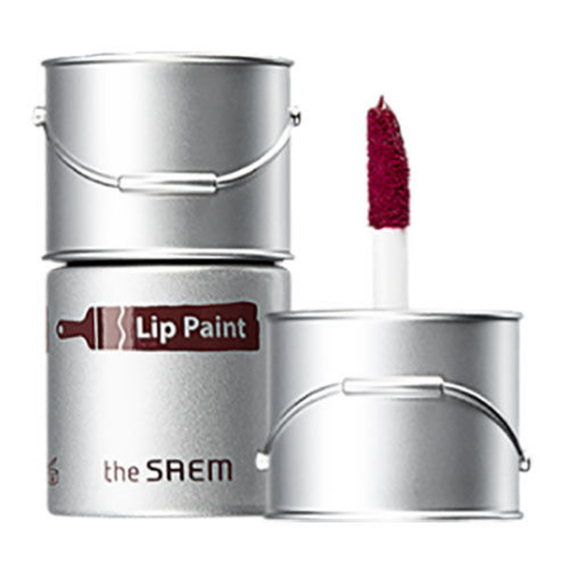 где купить THE SAEM Lip Paint 6.5ml Vivid Lip Tint Lipstick Long Lasting Lip Stain Moisturizing Lip Gloss Korea Cosmetics 5 Colors по лучшей цене