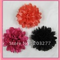 13 colors for your choose12PCS/LOT  4'' silk flower alligator hair clip and brooch pin