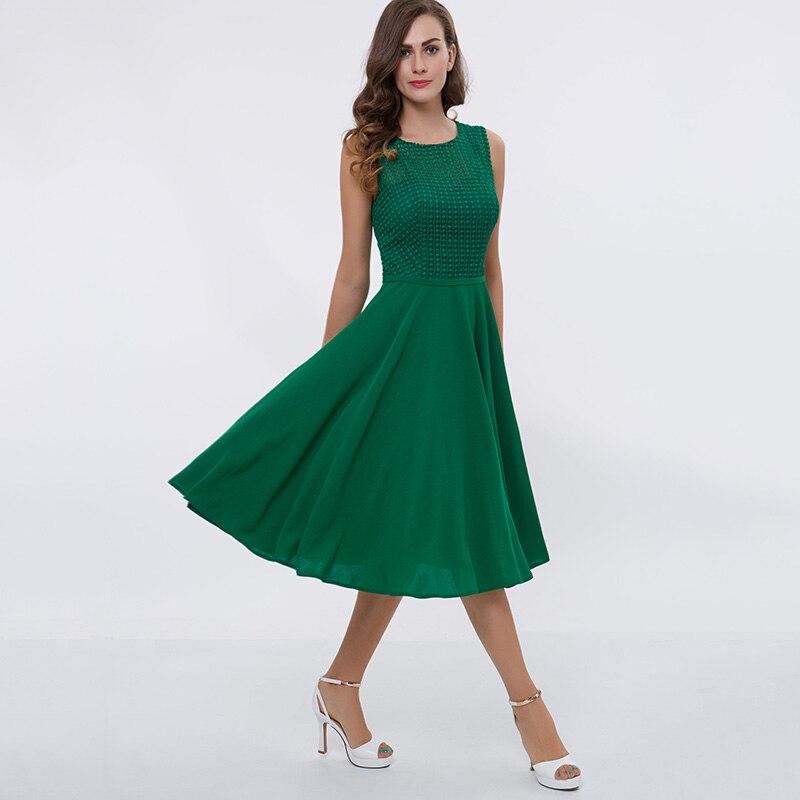 a linie kleid grün