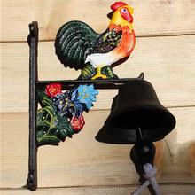 Cast Iron WELCOME Dinner Bell Wall Mounted Metal Bell Crafts Home Shop Store Wall Decoration Door Cabin Antique Free Shipping