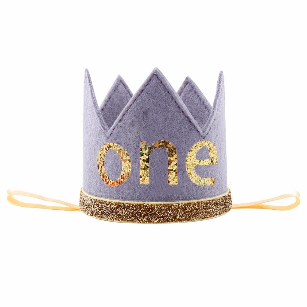 Infant Toddler Baby Girl Half 1//2 First Second Third Birthday Crown Headband