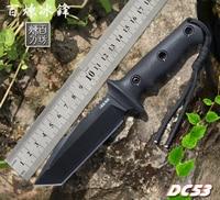 Alta qualidade faca de sobrevivência do exército alta dureza facas de deserto essencial auto defesa faca de acampamento caça ferramentas ao ar livre edc| | |  -