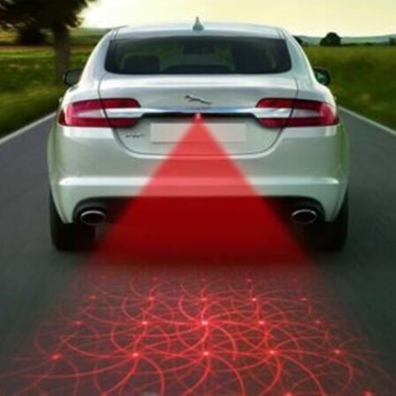 BBQ@FUKA Car Cool Pattern Anti-Collision End Rear Tail Fog Driving Laser Caution Light Fit for bmw vw audi ford ect. Motorcycle car tracing cauda laser light for volkswagen vw jetta mk6 bora 2010 2014 special anti fog lamps rear anti collision lights
