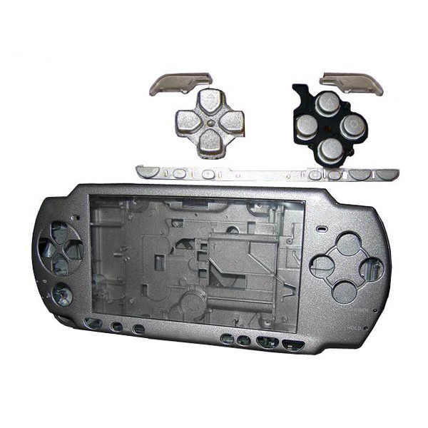 Silver Full Housing Shell Faceplate Case Parts Replacement for Sony PSP 2000 Console