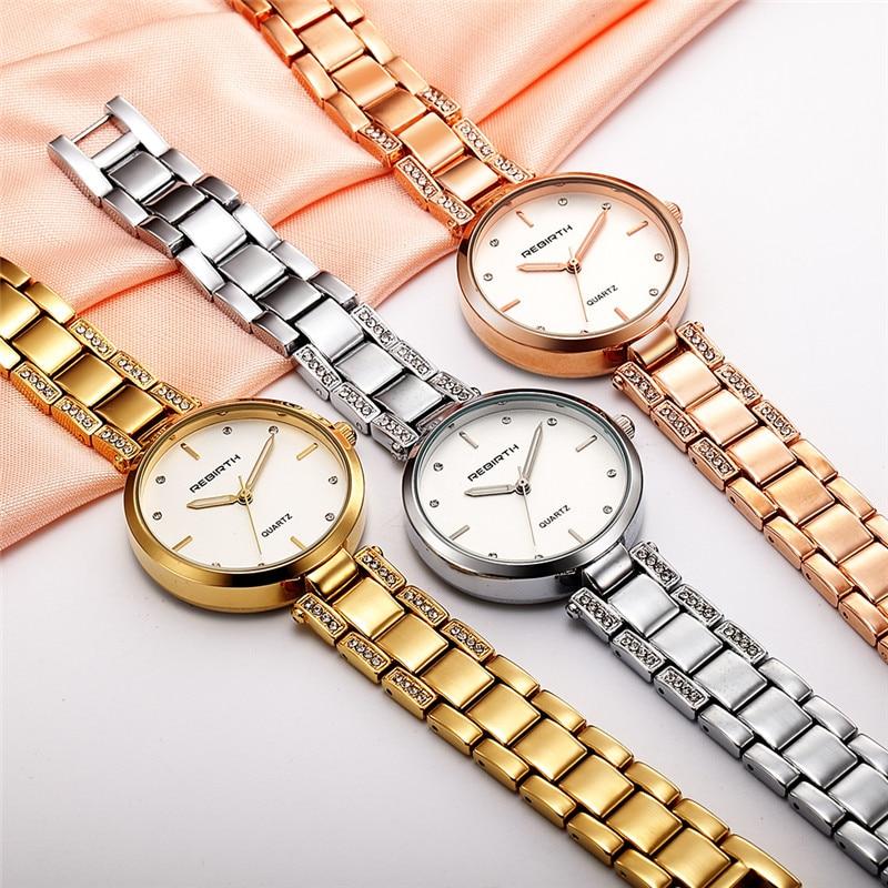 REBIRTH Staal Band Dames Horloges Casual Dames Horloges Topmerk Luxe - Dameshorloges - Foto 2