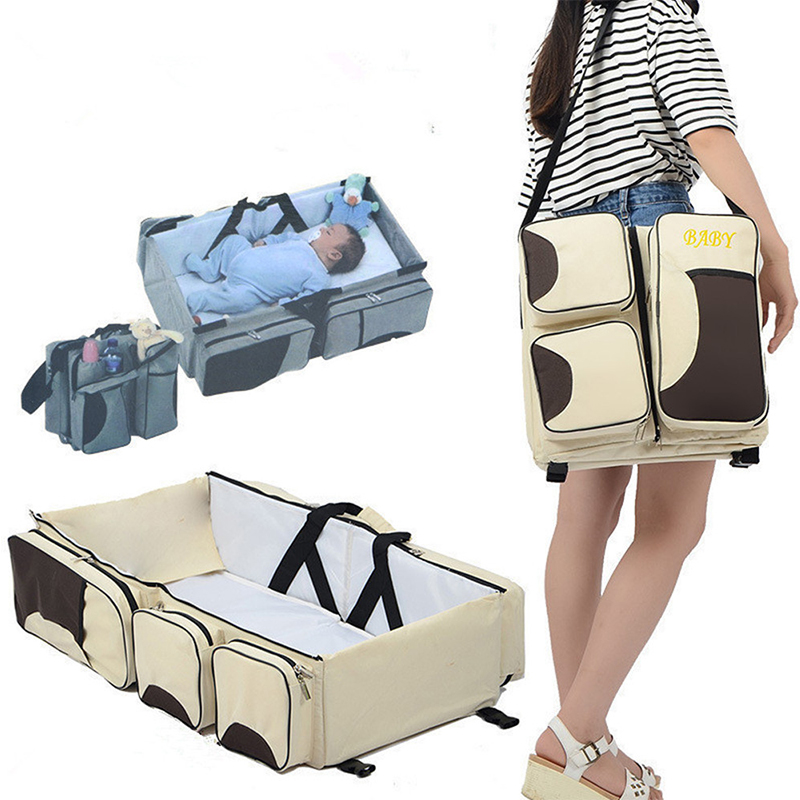 Newborn Baby Portable Crib For Mommy Multifunctional Large Capacity Stroller Bags Collapsible Cribs Travel Outdoor Essential Bed цена 2017