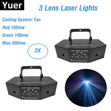 3 Lens 550MW RGB Full Color Laser Stage Lighting Scanner Effcet Xmas Bar Dance Party Show Lights DJ Disco Laser Projector Lights mini red blue laser stars lines pattern projector remote lighting light dance disco bar party dj xmas effect stage lights show