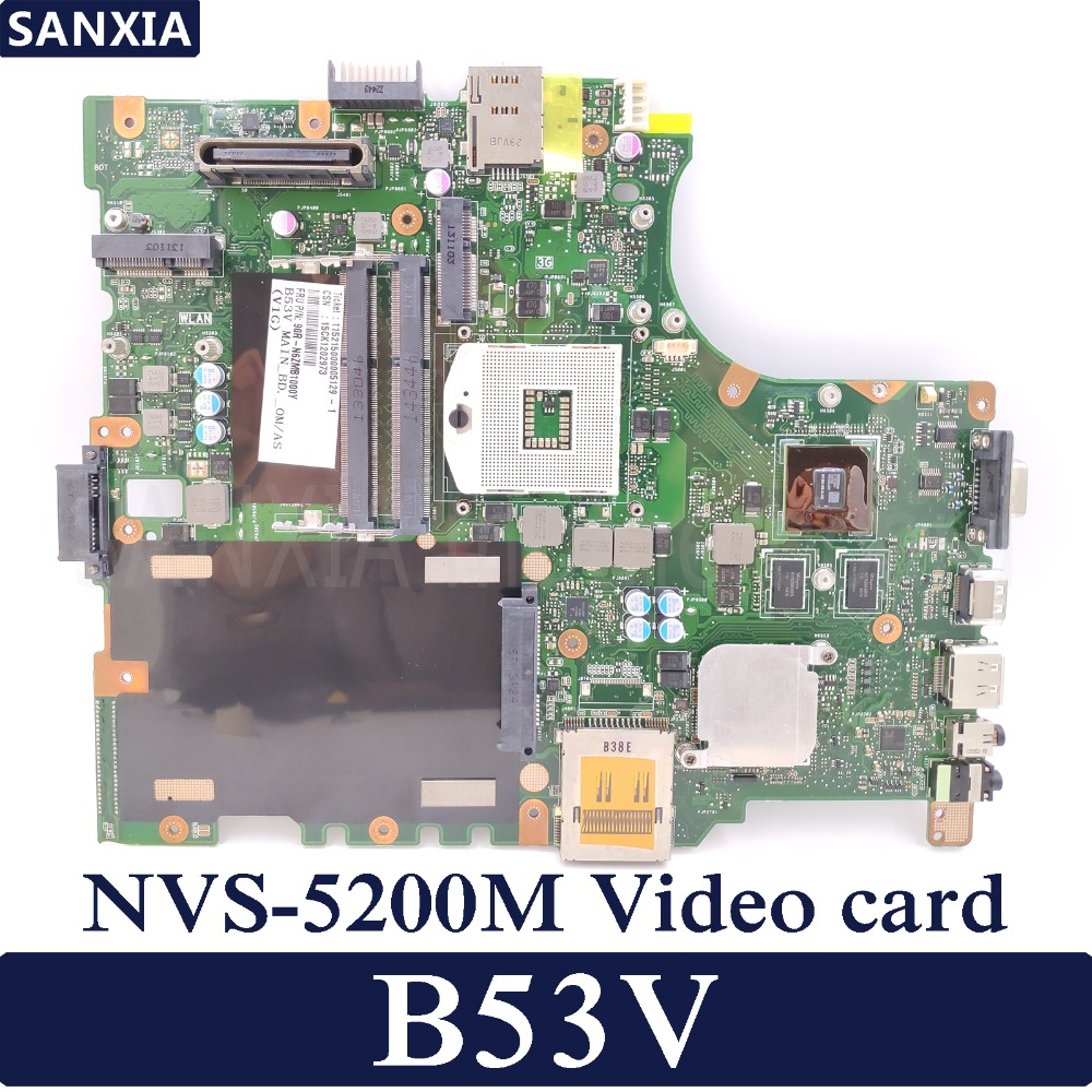 KEFU B53V Laotop motherboard for ASUS B53V B53AV B53A B53J B53F B53 Test original mainboard NVS