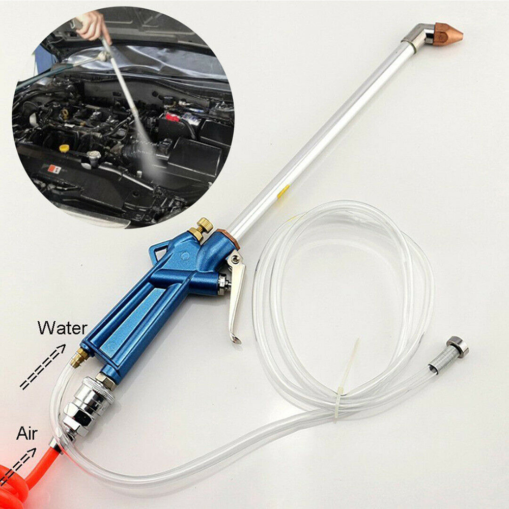 Engine Oil Cleaner Tool Car Auto Water Cleaning Gun Pneumatic Tool Auto Dust Oil Cleaner Curved Nozzle Gun Tools Wash 300mm