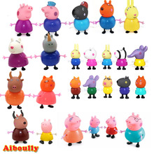 Aiboully full range peppa Toys PVC Action Figure pig Toy Juguetes Baby Kid Birthday Gift brinque