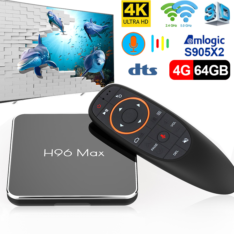4 k tv box Android 8.1 4 gb 64 gb andriod TV BOX Amlogic S905x2 Quad Core Suppot h.265 UHD 4 k WiFi X96mini décodeur