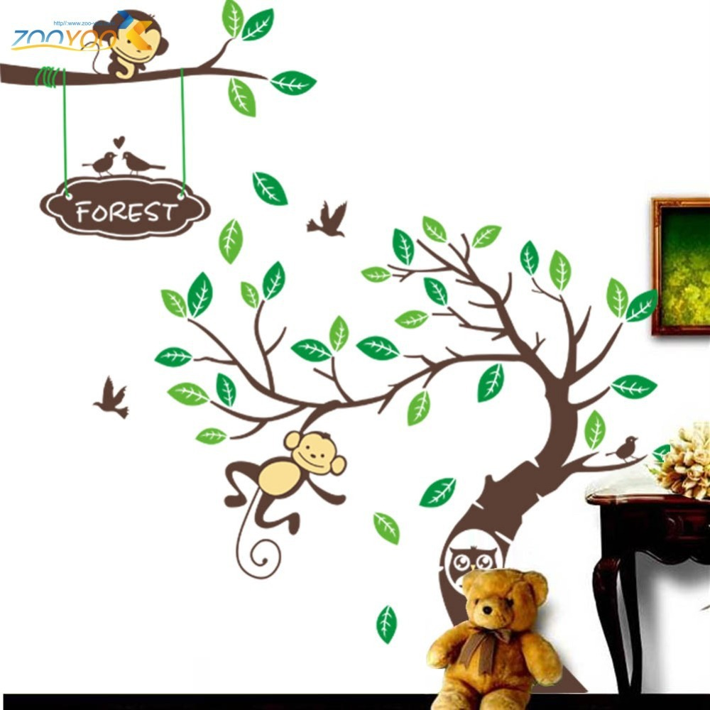 home water storage tank picture  more detailed picture about  - monkey tree wall art stickers kids decal removable decor decals home
