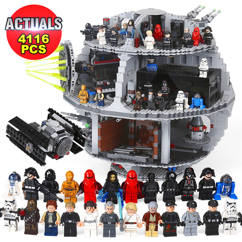 DHL Star Lepin 05063 4016pcs The UCS Death Stars Building Block Bricks Toys Kits Wars Compatible with LegoINGlys 75159 Toy Gifts