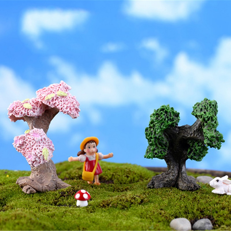 New Flowers Tree Miniatures Fairy Garden Decorations Mi