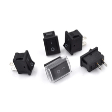 5pcs/lot Waterproof Rocker Switch+Cover Car Dashboard Boat 12V Waterproof Boat Switches 2pin On/Off Rectangle
