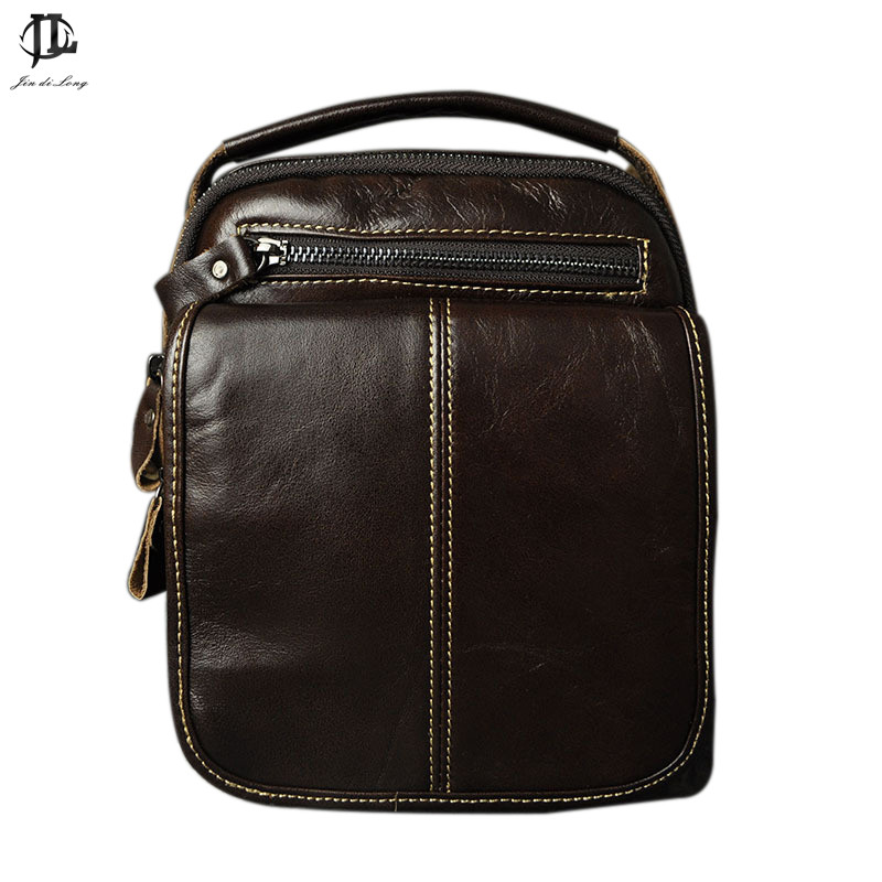 HOT sale!! Genuine Leather Bags Men High Quality Messenger Bags Small Travel Dark Brown Crossbody Shoulder Bag For Men 2017 new hot men shoulder bag fashion nylon crossbody bag chest bags high quality man travel messenger bags