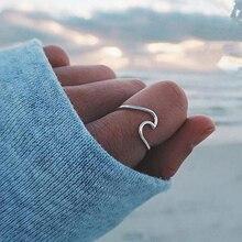 En Yeni Gümüş Düğün Dalga Yüzükler Kadınlar Kadın Gül Altın Nişan Parmak Knuckle Yüzükler 2018 Moda Takı