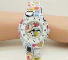 Для женщин цветы часы Повседневное часы Уиллис кварцевые модные водостойкой наручные часы с тонкая силиконовая лента 0840 10 шт.