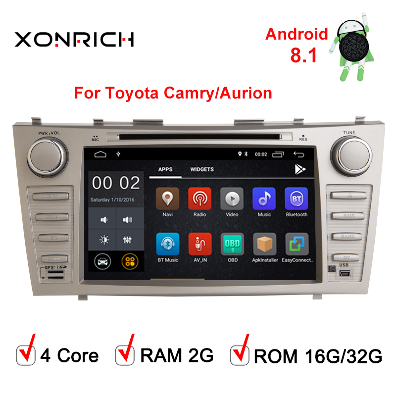 Android 8.1 Car dvd for Toyota camry 2008 2008 2009 2010 2011 radio navigation 2+32G Quad core car stereo gps media playerAndroid 8.1 Car dvd for Toyota camry 2008 2008 2009 2010 2011 radio navigation 2+32G Quad core car stereo gps media player