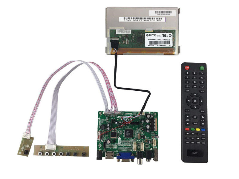 HDMI+VGA +Audio+LCD driver board+5.6 inch lcd kits with 1280*800 +LVDS cable +OSD keypad with cable vga 2av revering driver board 8inch 800 600 lcd panel ej080na 05b at080tn52