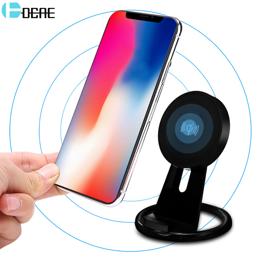 DCAE Qi Wireless Charger For iPhone X 8 For Samsung Note 8 S8 Plus S7 S6 Edge Phone Fast Wireless Charging Docking Dock Station