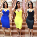 new fashion sexy women backless solid midi dress off the shoulder spagetti strap sheath womens elegent bodycon dresses MQ492