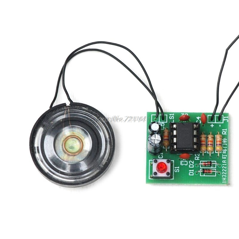 DIY Kit Electronic Doorbell Package NE555 Precise Electronic Production Transformer Sound Circuit Processing Board