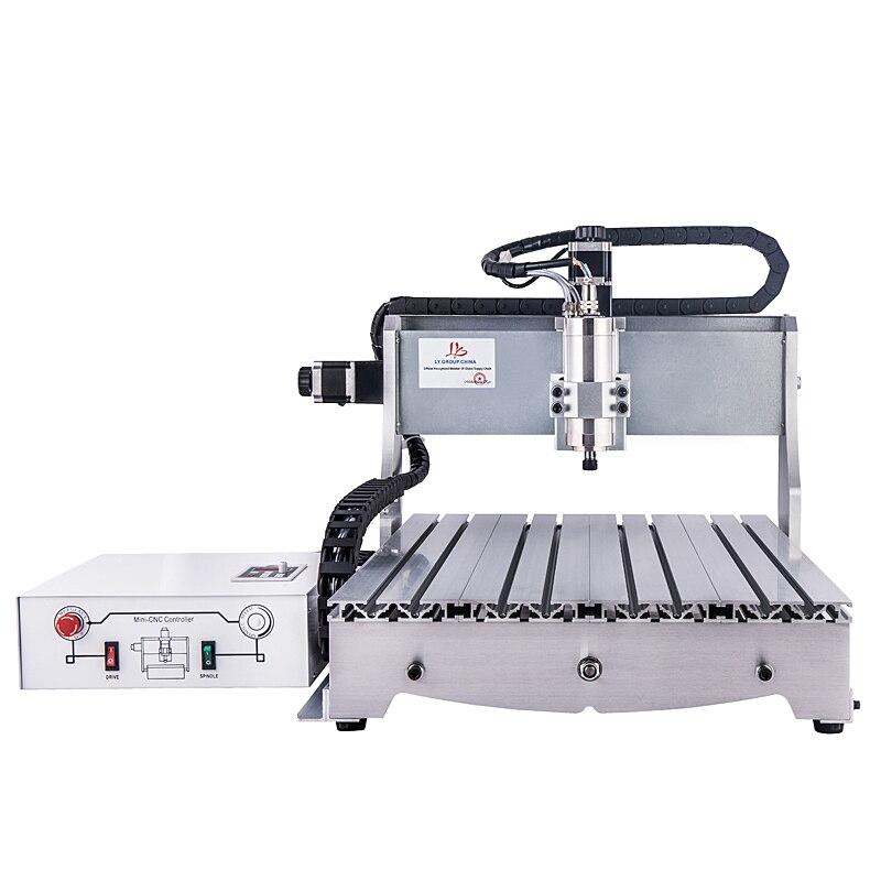 LY6040 1.5KW CNC Machine de gravure USB ou LPT Port routeur VFD refroidissement par eau fraiseuse de haute précision peut utilisé pour le métal