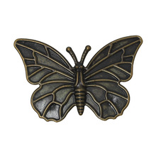 Doreen Box Lovely 30PCs Antique Bronze Filigree Butterfly Embellishments Findings 6x4cm(2-3/8″x1-5/8″) (B18887)