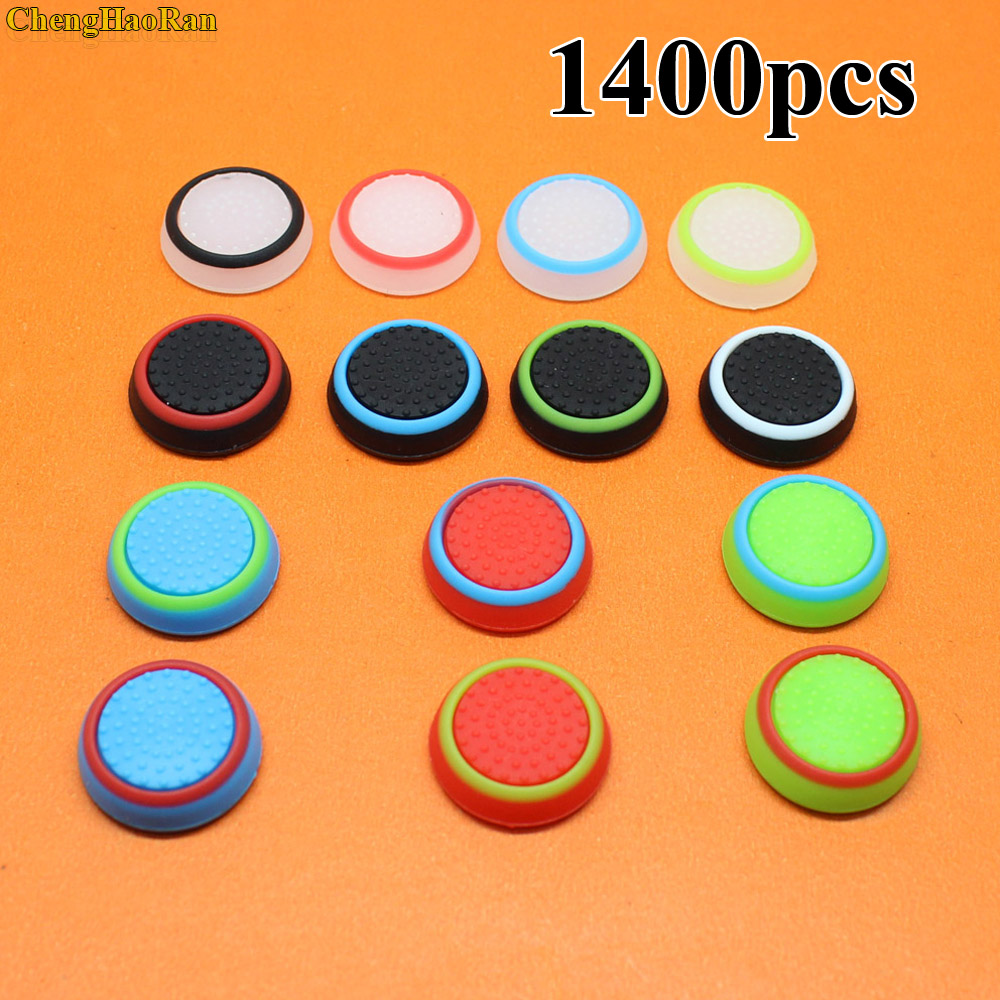 <font><b>14</b></font> colors 1400pcs/lot Game <font><b>Keycap</b></font> for PS4/3 Stick Cover Silicone Controller Grip Caps for Xbox 360 for Xbox one Game Controller image