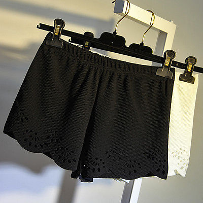 Hot Women's White Black High Waist Shorts Summer Casual Shorts Short Pants 6