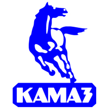 CS-814#15*19cm  24*30cm KAMAZ logo funny car sticker vinyl decal silver/black for auto stickers styling decoration