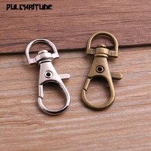 Pulchrode 10 шт. 11*32 мм два цвета родиевое покрытие ювелирных изделий, застежка-карабин крючки для ожерелья и браслета цепи DIY
