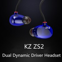 Dual Dynamic Hi Fi Earphone KZ ZS2 Bass Headset In Ear Stereo Noise Cancelling Headphone DJ