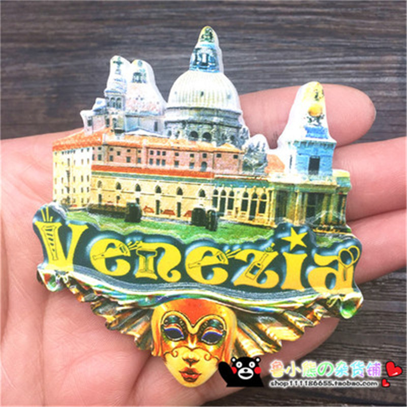 Suveniri - Page 4 3D-Print-Venice-Italy-World-Tourism-Souvenirs-Fridge-Magnets-Venezia-Mask-Refrigerator-Magnetic-Stickers-Home-Decorations