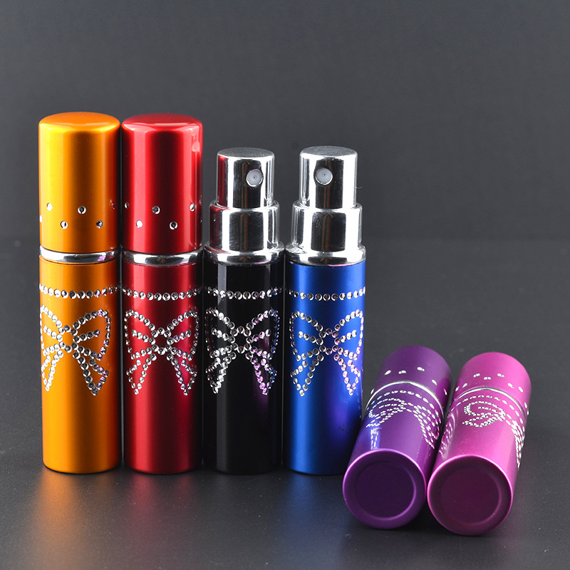 Myer Perfume Refill: Free Shipping 5ml 50pcs Portable Refillable Perfume Bottle With Spray&Parfum Case With Colorful