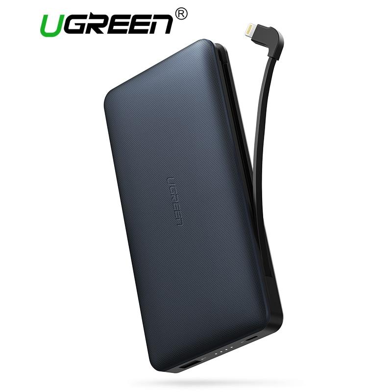 Ugreen 20000 mah Bateria Externa Powerbank Banco De Potência com Cabo de Carregamento Portátil para Android e IOS Telefones Móveis Banco de Potência