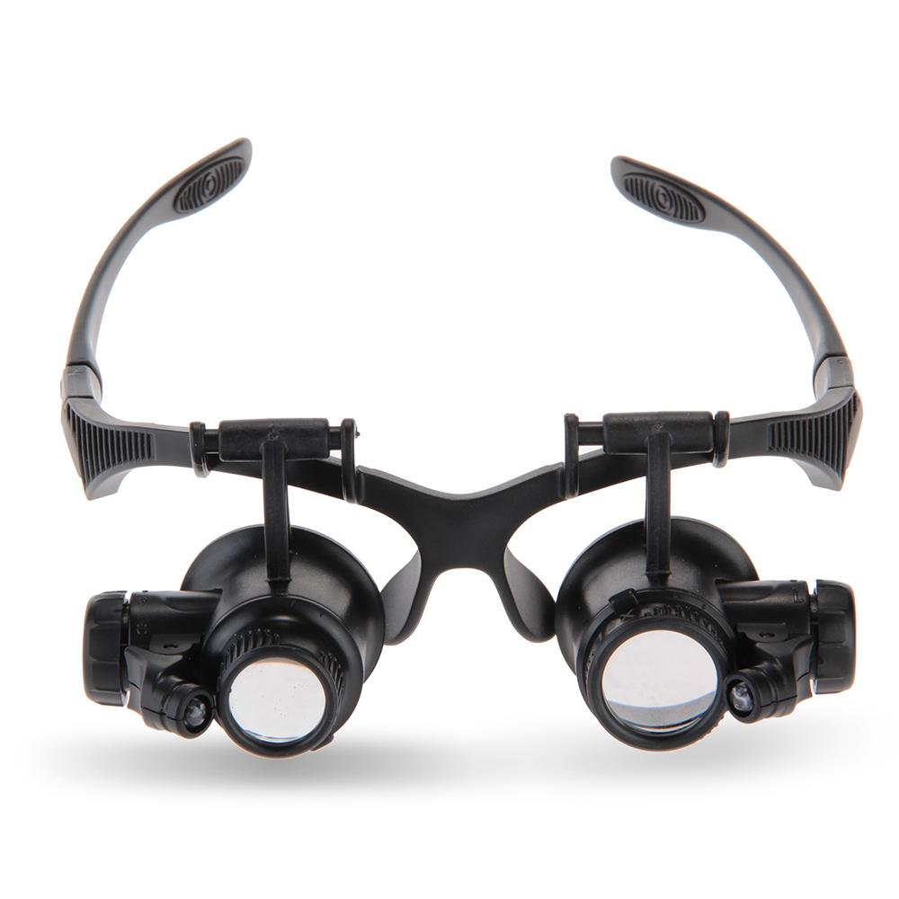 Good Market 8 Lense 10X 15X 20X 25X LED Magnifier Eye Glass Jeweler Loupe Repair Magnifying