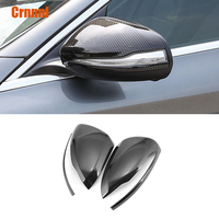 Carbon fiber style Rearview mirror cover Car Accessories For Mercedes Benz C W205 C200 C260 C300 2015 2016 2017 2018