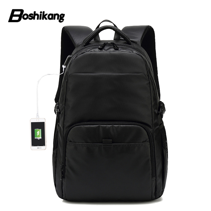Boshikang Backpack Men 15.6 Inch Waterproof Oxford Men Backpack Lightweight Bag Water Repllent Travel Storage Bags Men Fashion