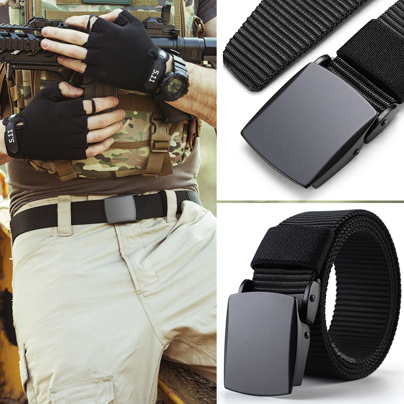 CETIRI 3.8cm Durable Nylon Tactical Belt Women Mens Military Belts Anti Allergy Army Outdoor Belt High Quality Plastic Buckle