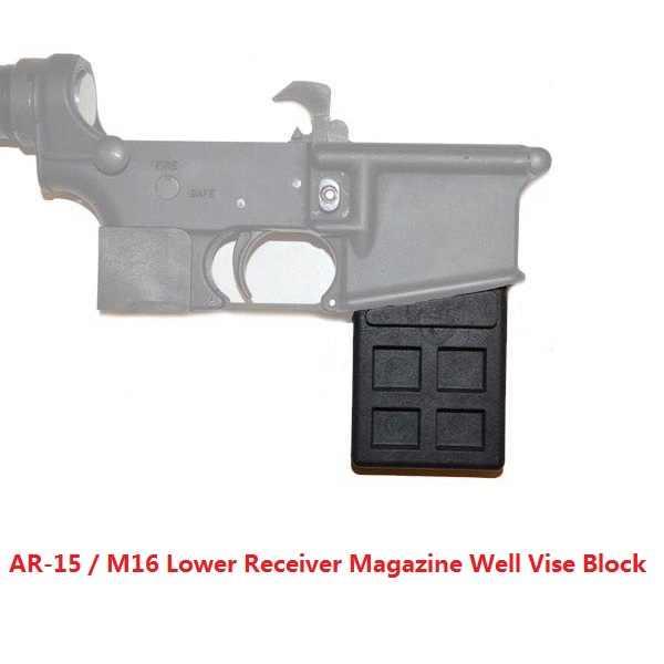 MagWell Vise Block Tool 223 5 56 Gun Smith Tool Vise Block Gunsmithing Tool  Barrel Nut Armorer for Clamping AR-15 Lower Receiver