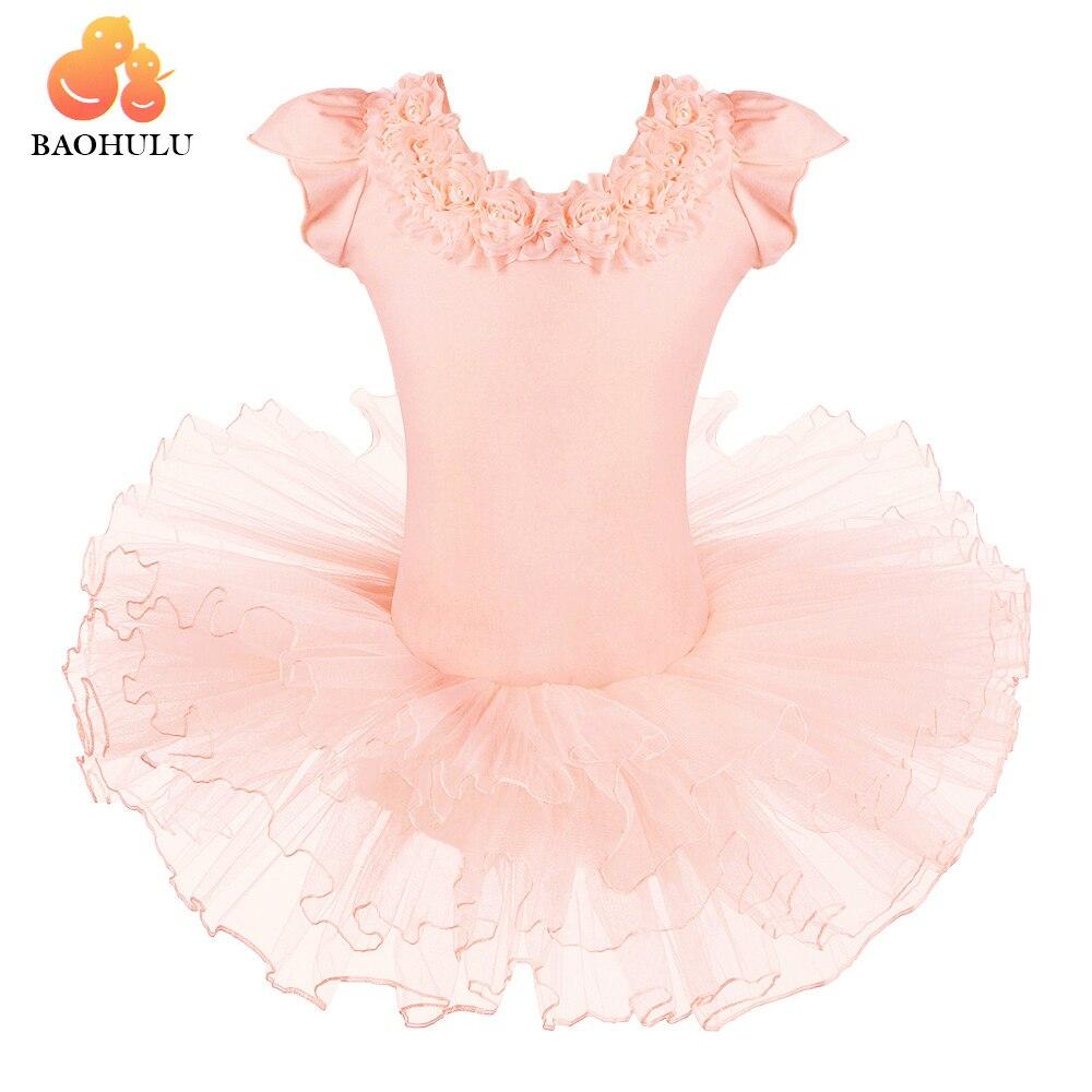 BAOHULU vente chaude chaussures de danse robe justaucorps Ballet Tutu filles mignonnes robe de princesse vêtements de danse Skate fête spectacle robe SZ 3-8Y