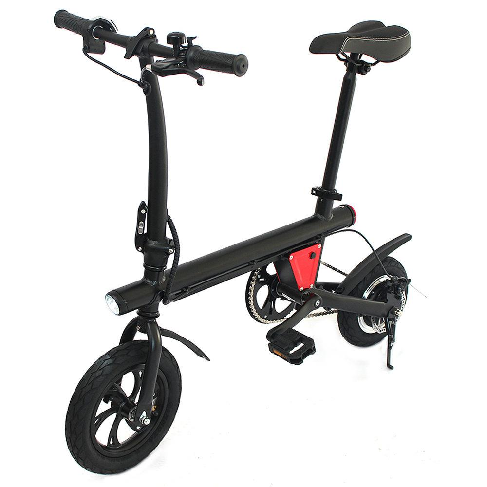 12 inch tire E-Bike Y1 <font><b>5Ah</b></font> <font><b>36V</b></font> Smart Folding Bicycle <font><b>5AH</b></font> Mopied Electric Bike 250W max load 110kg for adults accessories light image