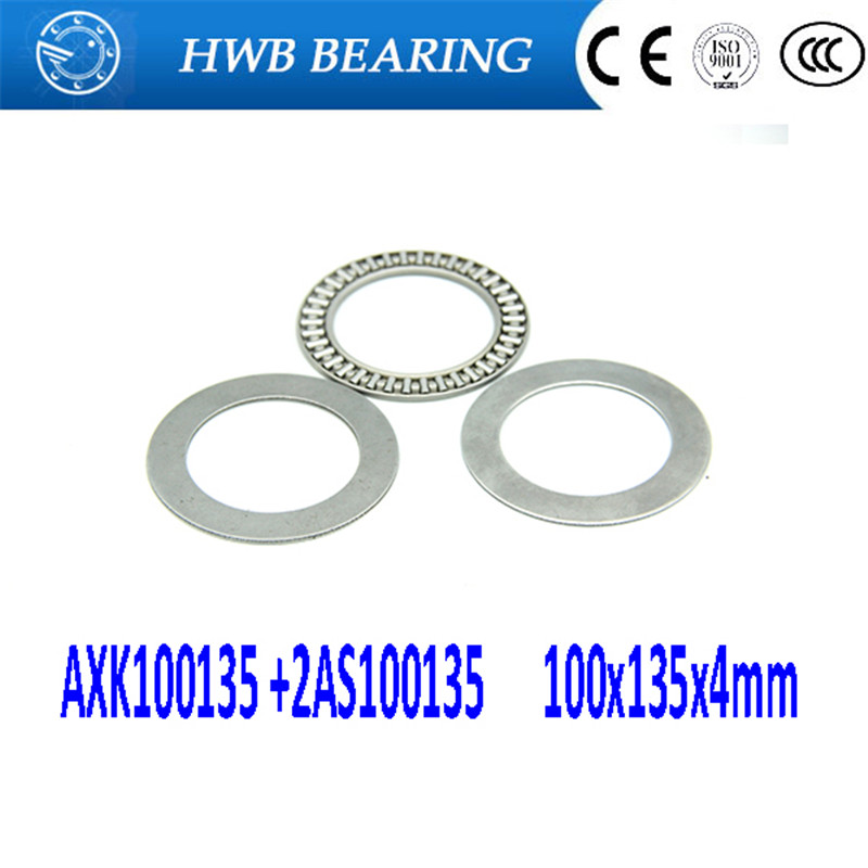 Free shipping 2pcs AXK series AXK100135 +2AS100135 thrust needle roller bearing 100x135x4mm bearing +whosale and retail free shipping drawn cup needle roller bearing hk1718 hk0709 hk2220 hk0812 ta1729 hk0612 hk1008 hk1812 hk1010 hk1212