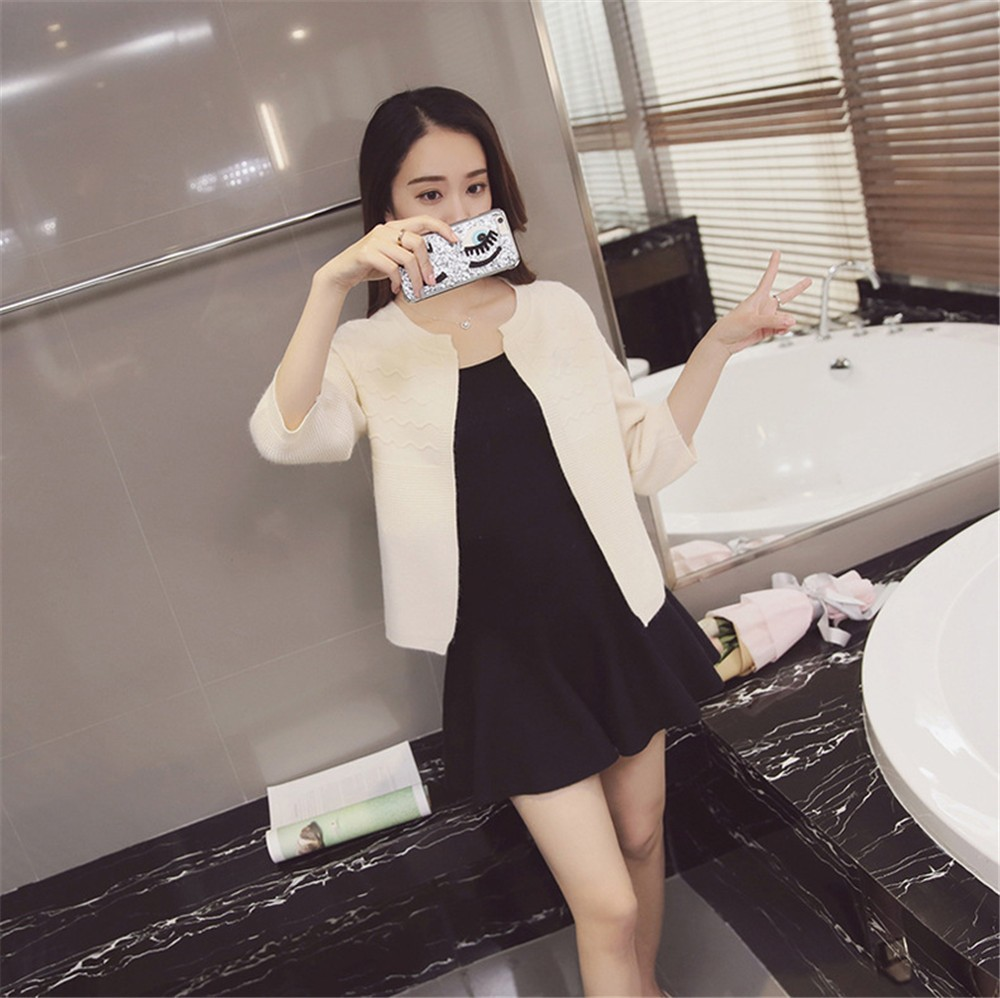 2016 Spring&Autumn Casual Sweater Women Cardigan Sweater Solid Color Open Stitch Women\'s Cotton Knitted Outerwear Sweater (12)